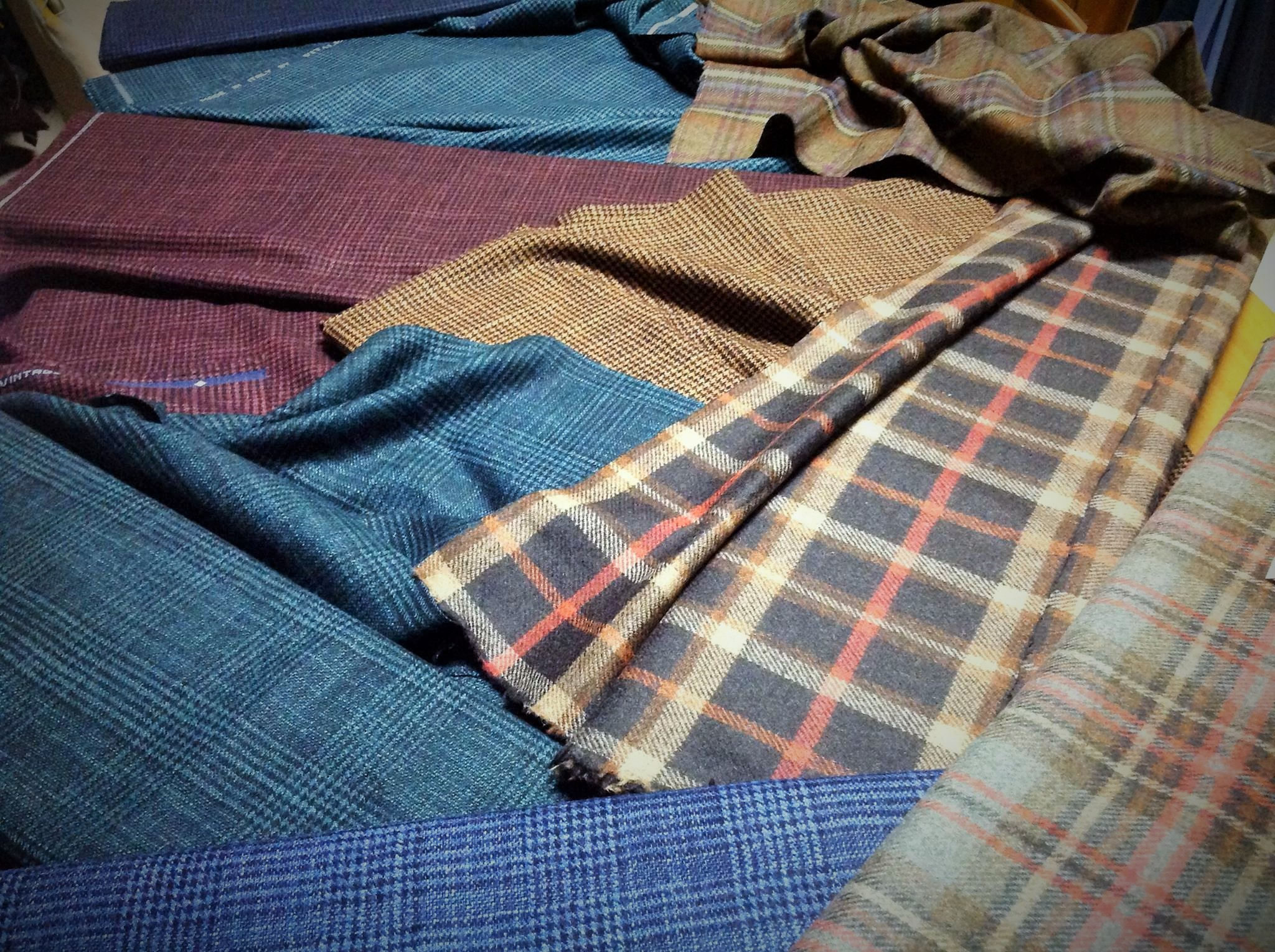 Winter fabrics selection by Sartoria Crimi